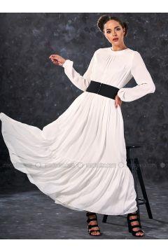Ecru - Crew neck - Fully Lined - Dresses - Eda Atalay(110331467)