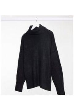 New Look Curve - Maglione lungo con ampio collo alto e maniche voluminose nero(123030732)