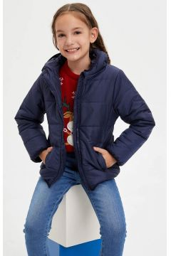 DeFacto Kız Çocuk Kapüşonlu Fermuarlı Mont(125921302)