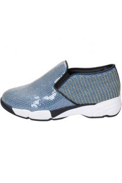 Chaussures Pin Ko PINKO slip on bleu textile or paillettes BY851(115425990)