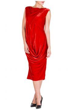Women's calf length dress sleeveless(116914600)