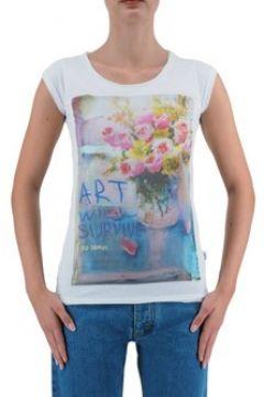 T-shirt Ko Samui Tailors Art Will Survive T-Shirt Blanc KSUTBC424SURVI(127969011)