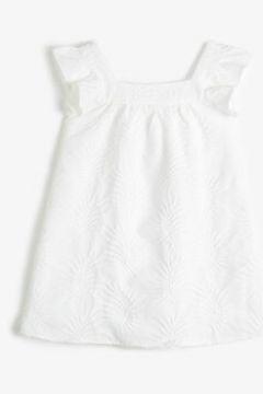 Koton Kız Çocuk Kare Yaka Kollari Firfir Detayli Elbise(118369701)