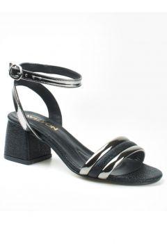 Wizyon Grima Kalın Topuklu Ayakkabı Tek Bant Örgü Detaylı(116834832)