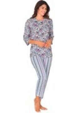 Blommig pyjamaströja Mix&Match(112297229)
