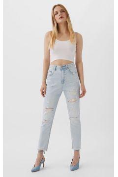 Mom-Fit-Jeans mit Schlitzen Denim(113908018)