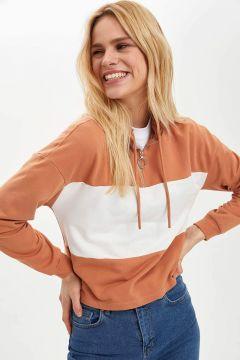 DeFacto Kadın Fermuarlı Örme Sweatshirt(119061568)