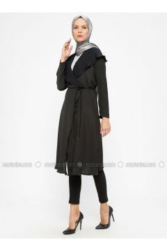 Black - Unlined - Shawl Collar - Topcoat - ModaNaz(110315004)
