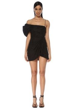 Isabel Marant Kadın Siyah Geometrik Desenli Tek Omuzlu Mini Elbise 34 FR(117771900)