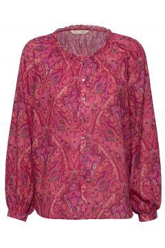 Anna Printed Blouse Bluse Langärmlig Pink ODD MOLLY(120942449)
