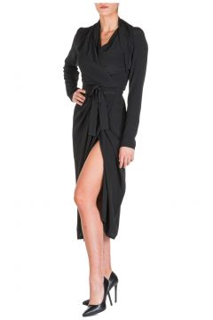 Women's calf length dress long sleeve(116886721)