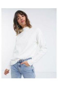 Fashion Union Plus - Maglione comodo lavorato a maglia diamante in coordinato-Crema(122557129)
