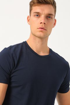 Pierre Cardin Lacivert Baskılı T-Shirt(113989438)
