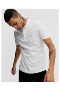 AllSaints - Weißes Polohemd mit Widderschädel-Logo - Weiß(95024626)