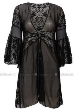 Black - Morning Robe - Siyah inci(110332788)