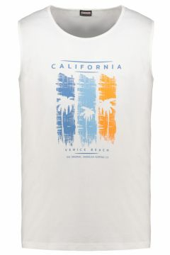 "Adamo Fashion: Tanktop mit gummiertem \""California\""-Print, 10XL, Weiß(121717264)"