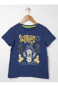 Limon Erkek Çocuk Nakışlı Lacivert T-Shirt(113974180)