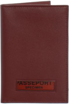 Portefeuille Francinel Porte-passeport en cuir ref_42538 Rouge 10*14*0.5(115559972)