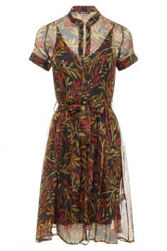 Kleid aus Seide Jeanne(117292054)