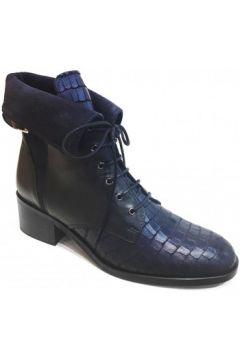 Bottines PintoDiBlu Boots plates Bleu(115590364)