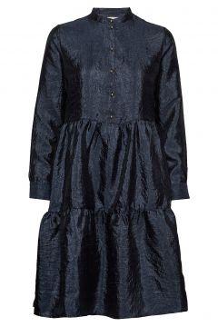 Lr-Herle Kleid Knielang Blau LEVETE ROOM(99731989)