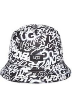 UGG Reversible All Weather Bucket Chapeaux pour Femmes en Graffiti Ugg Black White, taille Grande/XL(112238338)