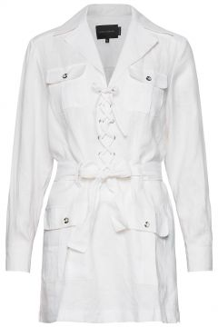 Loulou Shirt Dress Kurzes Kleid Weiß BIRGITTE HERSKIND(116366980)