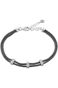 Bracelets Eleganza Bracelet en Argent 925/1000 Noir et Oxyde Blanc Femme(115421975)