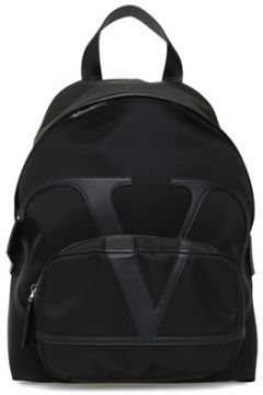 Valentino Garavani Erkek Vring Siyah Logolu Sırt Çantası EU(109108616)