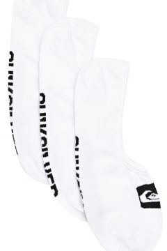 Quiksilver 3 Pack Liner Fashion Socks - White(115308225)