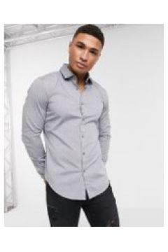 BOSS - Business Rikki - Camicia slim a maniche lunghe-Blu(112453647)
