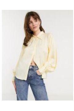 In Wear - Camelia - Camicia gialla con maniche ampie-Crema(120382950)