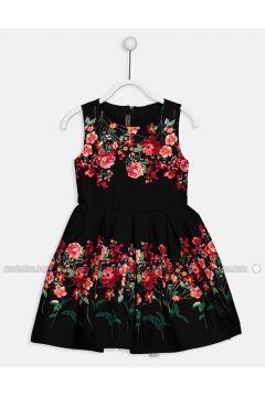 Black - Printed - Age 8-12 Dress - LC WAIKIKI(110341848)