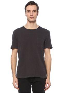 Allsaints Erkek Pilot Siyah Cepli Basic T-shirt XS EU(124468905)