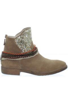 Boots Meline Bottine femme ref_elle34905-velour-havana-g(88636702)
