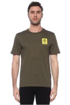 Timberland Erkek SS Back Logo Camo Yeşil Baskılı T-shirt XL EU(113467999)