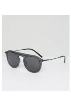 Dolce & Gabbana - Occhiali da sole rotondi con lenti piatte-Nero(112351486)