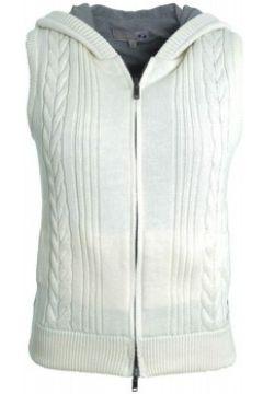Gilet La Martina Gilet sans manches blanc crème pour femme(88569807)