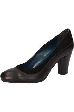 Chaussures escarpins Keys escarpins noir cuir daim AD430(115393728)