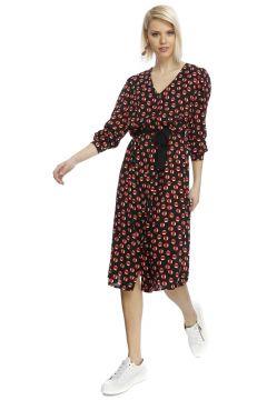House Of Camellia Puantiyeli Kuşak Detaylı Elbise(113956399)
