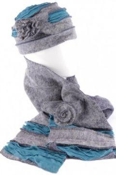 Bonnet Léon Montane Bonnet echarpe gris bleu en laine bouillie Mona(88495884)