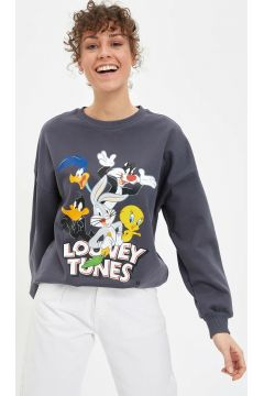 DeFacto Kadın Relax Fit Looney Tunes Lisanslı Sweatshirt(108988309)