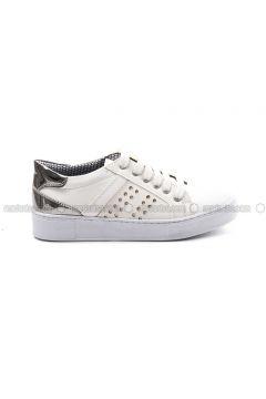 White - Silver Tone - Sport - Sports Shoes - Sapin(110326509)