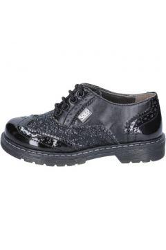 Chaussures enfant Solo Soprani élégantes noir glitter cuir BT296(115442781)