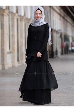 Black - Crew neck - Unlined - Dresses - Emsale(110319092)
