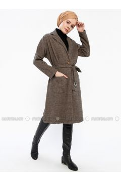Minc - Unlined - Shawl Collar - Coat - İLMEK TRİKO(110336282)