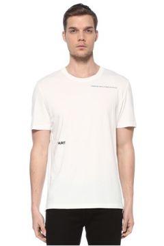 Zadig&Voltaire Erkek Beyaz Baskılı T-shirt S EU(116665604)