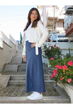 Jupe AGONYA MODA Indigo / Bleu Marine(125454245)