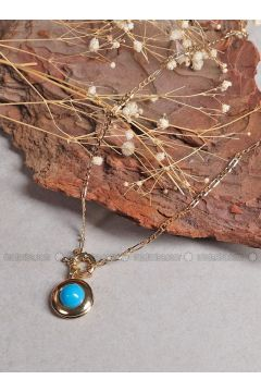 Blue - Gold - Necklace - By Geda(110328741)