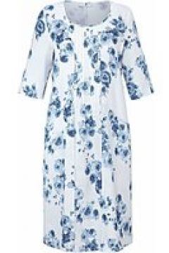 Abendkleid Kleid mit 3/4-Arm aus 100% Leinen Anna Aura weiß/blau(118623290)